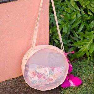 Peachy Pink Circle Mesh Bag